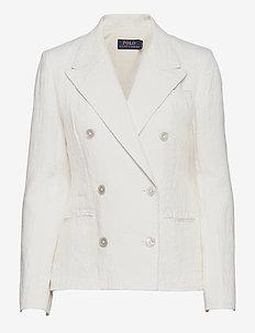 Double-Breasted Linen Blazer - casual blazere - nevis