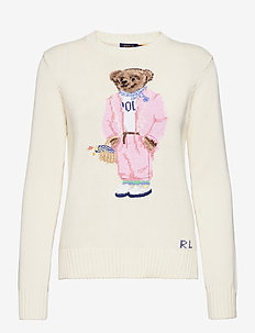 Picnic Polo Bear Sweater - jumpers - cream