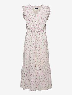 Floral Buttoned Cotton Dress - sommarklänningar - 1100 summer purpl