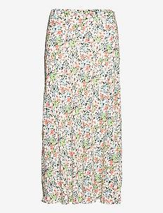 Floral Crepe Skirt - midinederdele - 1101 grace floral