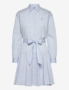 Cotton Broadcloth Shirtdress - hverdagskjoler - beryl blue