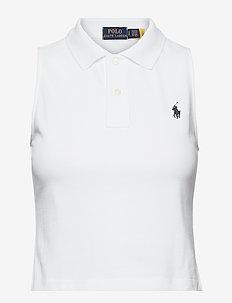 Cotton Sleeveless Polo Shirt - poloskjorter - white