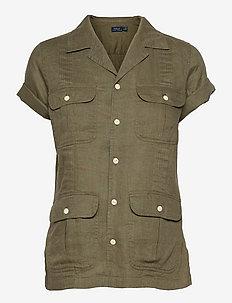 SS GNIS TP-SHORT SLEEVE-SHIRT - overhemden met korte mouwen - basic olive