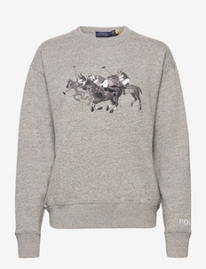 Polo Match Heathered Fleece Sweatshirt - sweatshirts - dark vintage heat