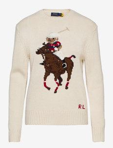 Polo Bear Embroidered Sweater - trøjer - cream multi