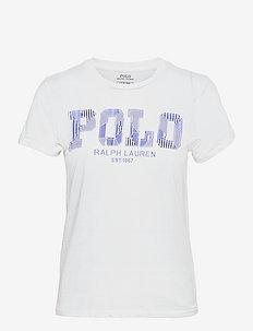 Patchwork Logo Cotton Jersey Tee - t-shirts - white