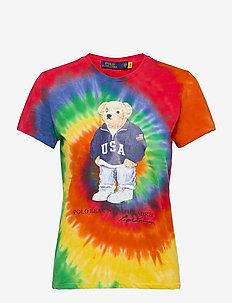 Polo Bear Tie-Dye Tee - t-shirts - rasta blue