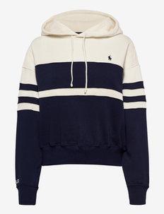 Fleece Striped Hoodie - hættetrøjer - newport navy/nevi