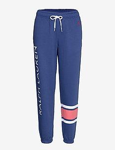 Striped-Trim Fleece Sweatpant - dressipüksid - beach royal