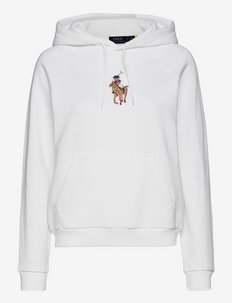 Polo Bear Embroidered Hoodie - hættetrøjer - white