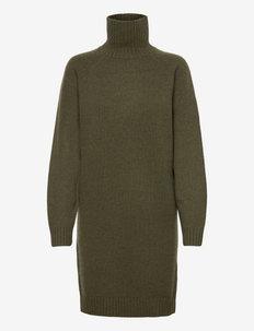 Wool-Cashmere Sweater Dress - strikkjoler - loden heather