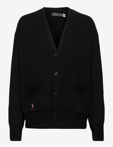 Wool-Blend Buttoned Cardigan - kardiganid - polo black
