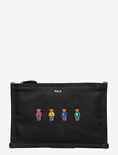 BEAR CANVAS-CRNR TAB PCH-PCH-SMA - BLACK MULTI