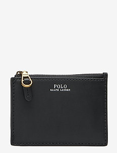 Nappa Leather Zip Card Case - BLACK