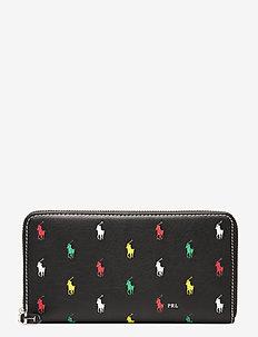 Pony Leather Zip Wallet - plånböcker - black multi
