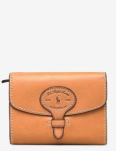 Tartan Wool Compact Wallet - wallets - natural