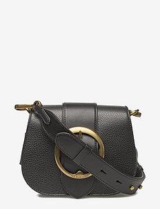 Pebbled Leather Lennox Bag - axelremsväskor - black