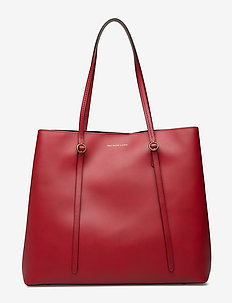 Leather Lennox Tote - SCARLET