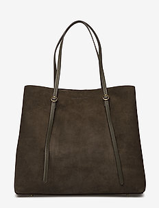 Suede Lennox Tote - fashion shoppers - olive