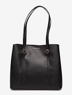 Leather Mini Lennox Tote - BLACK