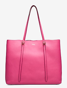 Leather Large Lennox Tote - PEONY