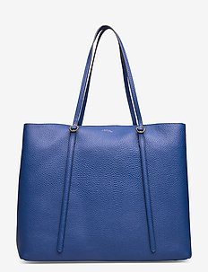 Leather Large Lennox Tote - ROYAL BLUE