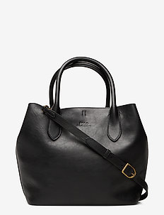 Leather Medium Bellport Tote - shoppers - black
