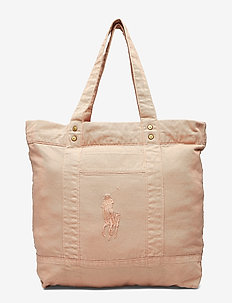 SUNFADED CHINO-LG PP TOTE-TTE-LRG - DECO CORAL