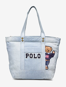 Canvas Polo Bear Tote Bag - DENIM