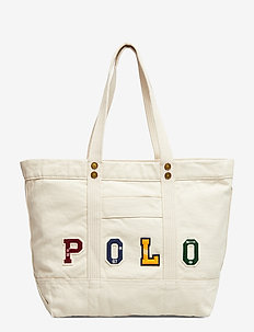 Polo Patchwork Canvas Tote Bag - ECRU