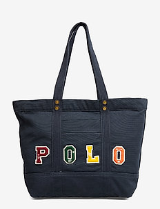 Polo Patchwork Canvas Tote Bag - NAVY