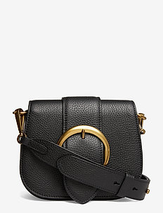 Pebbled Leather Lennox Bag - shoulder bags - black