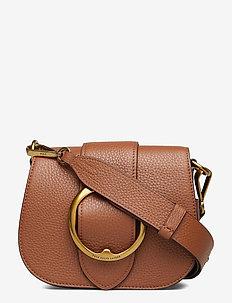 Pebbled Leather Lennox Bag - shoulder bags - saddle