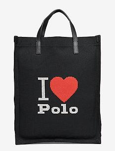 Graphic Large Shopper Tote - shoppers - black multi