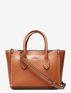 Leather Mini Sloane Satchel - axelremsväskor - saddle