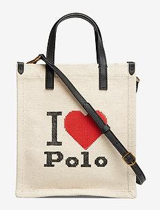 Graphic Small Shopper Tote - ECRU MULTI