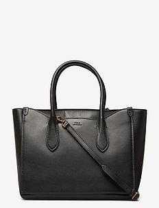 Leather Large Sloane Satchel - handbags - black