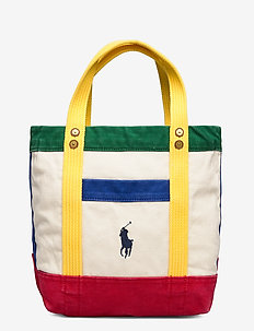 Color-Blocked Canvas Tote - casual shoppers - multi