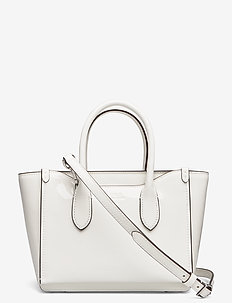 Leather Mini Sloane Satchel - shoulder bags - white
