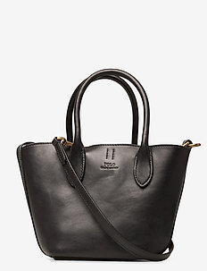 Leather Mini Bellport Tote - handbags - black