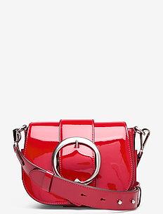 Leather Lennox Crossbody Bag - shoulder bags - red