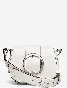 Leather Lennox Crossbody Bag - axelremsväskor - white
