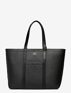 Pebbled Leather Medium Tote - shoppers - black