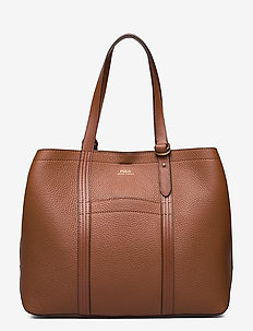 Pebbled Leather Medium Tote - shoppers - cuoio