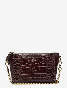 CROC EMBOSSED LTHR-SLOANE XBDY-CXB- - shoulder bags - chocolate