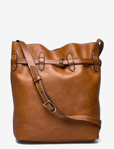 Leather Large Bellport Bucket Bag - bucket bags - cuoio
