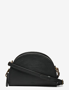 SMOOTH LEATHER-HALF MOON XB-CXB-SMA - shoulder bags - black