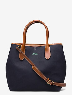 POLO CANVAS-MD OPEN TOTE-TTE-MED - handbags - navy