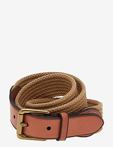 WEBBING/LEATHER-RIBBED WEB-CSL-MED - belts - khaki
