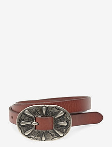 Skinny Leather Buckle Belt - ceintures - cuoio